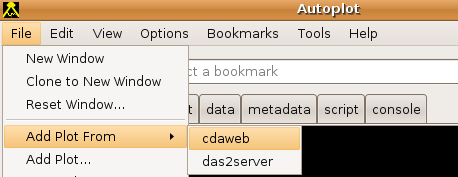 Accessing list of CDAWeb data from Autoplot.